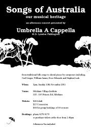 Umbrella a Cappella Songs of Australia Concert Photos